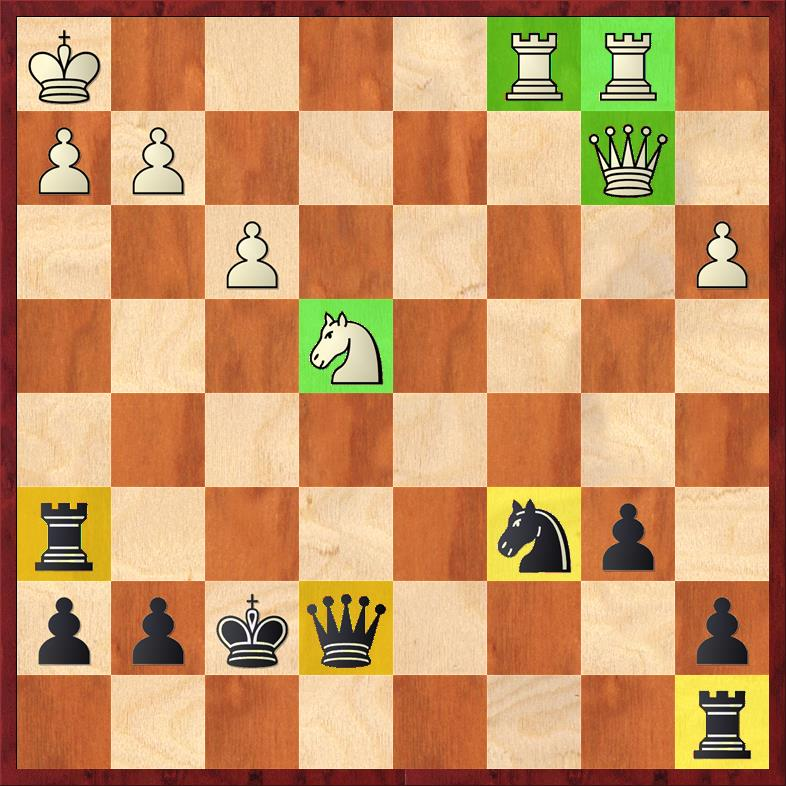 Position after sideline 30. Nxe4