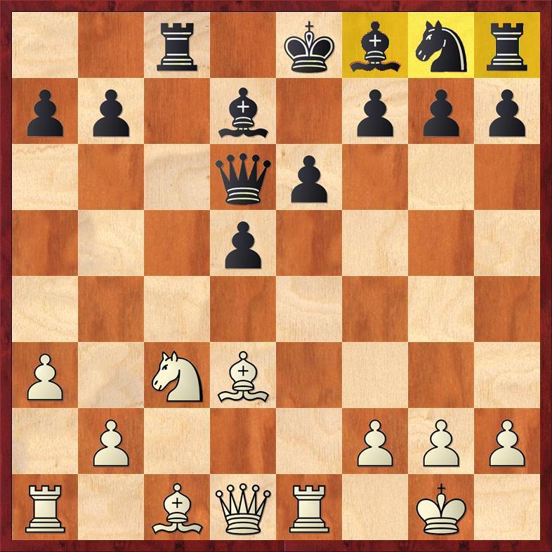 Position after sideline 12. ... Qd6