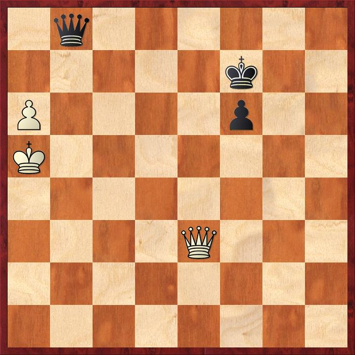 Position after 70. Qxd6