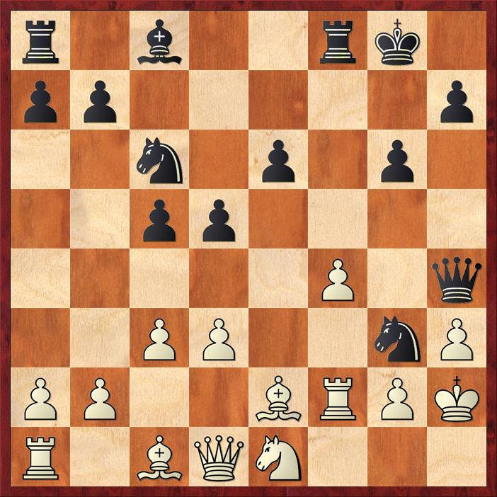 Position after 16. ... Qxh4