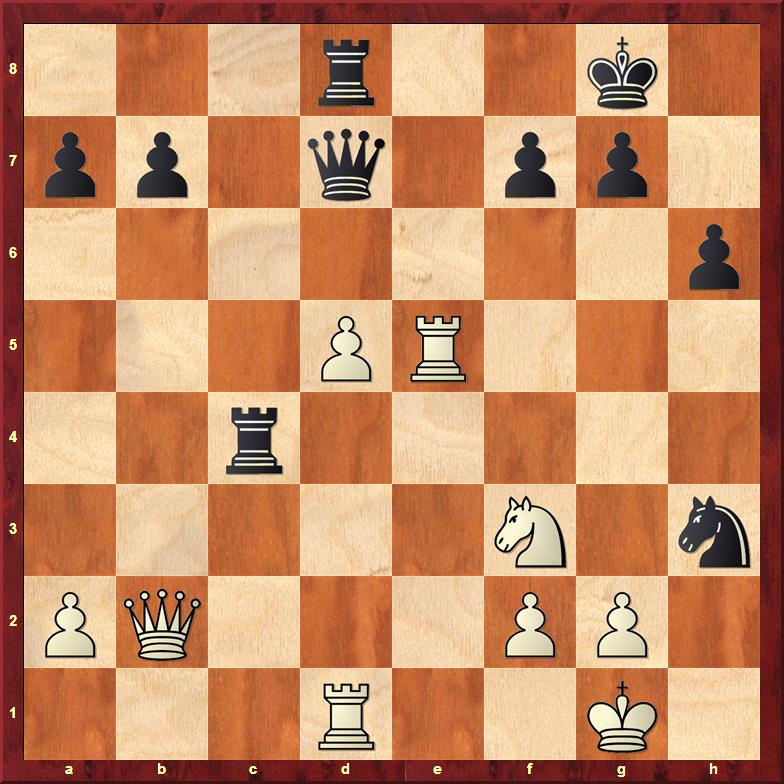 Position after 27...Nxh3+