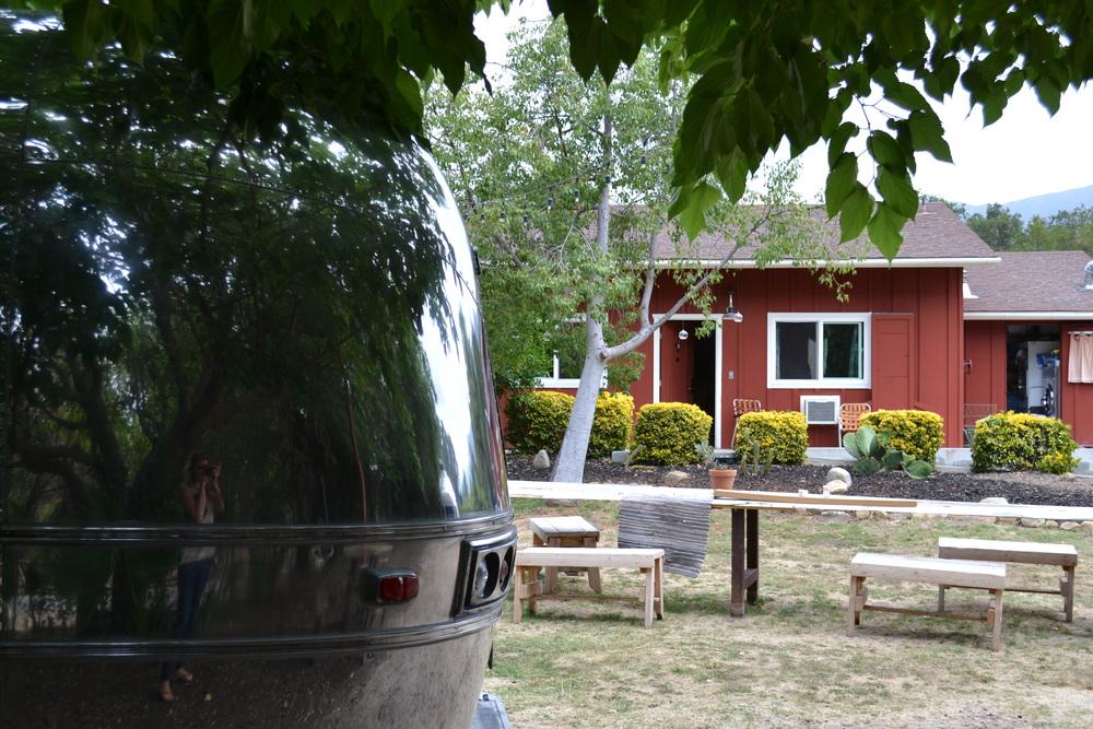 Our spot behind the ojai rancho inn.