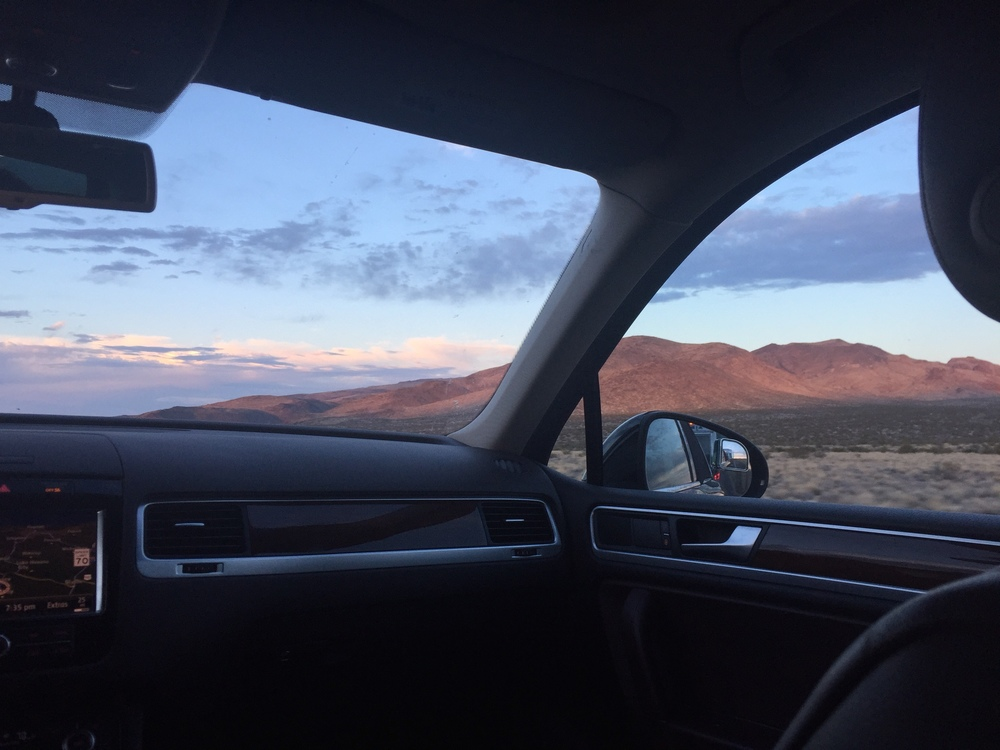 Our view from the backseat as we get closer to arizona