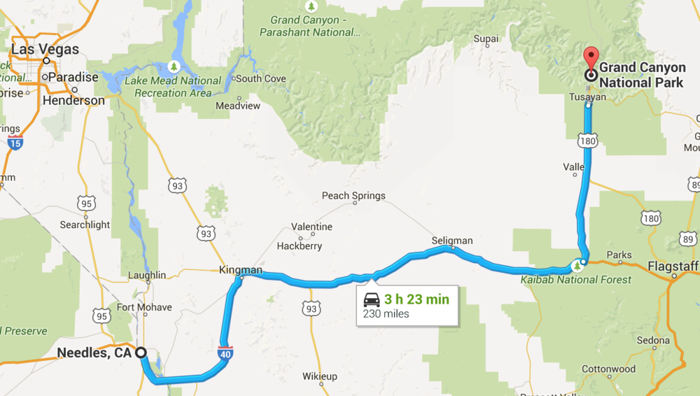 Drive day #2 -- Needles, CA to Grand canyon, az. somehow this took us 6 hours...