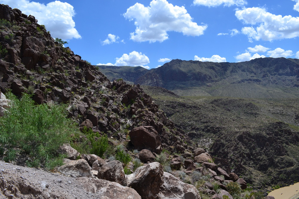 Big Bend national park -- looking into mexico