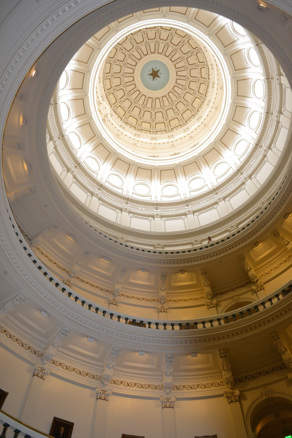 inside of the dome of the capitol building in austin