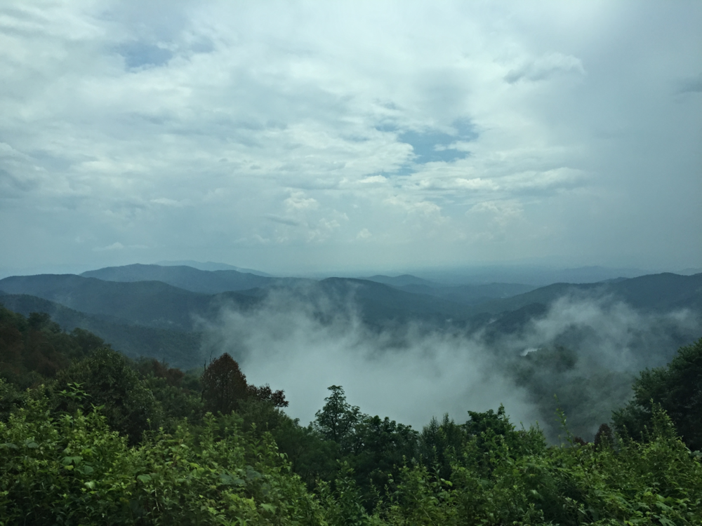 Driving the Blue Ridge Parkway to camp