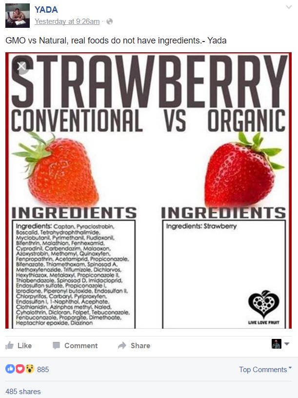 Yes, evil corporations piece berries together one chemical at a time. It's far more economical than growing them.