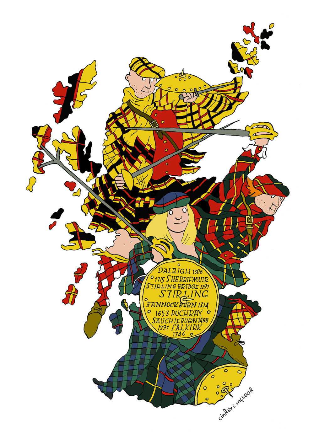 Map of Scotland  Leiper Gallery, Glasgow