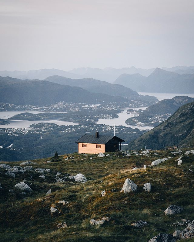 Idyllic living on the west coast of Norway. Layering fjords on one side, endless ocean on the other.
