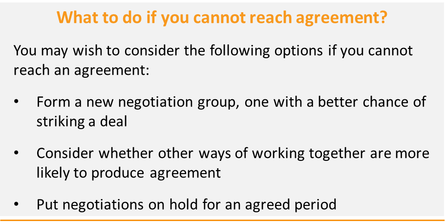 Figure 12: What do to if you cannot reach agreement