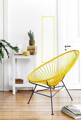 chaises jaunes