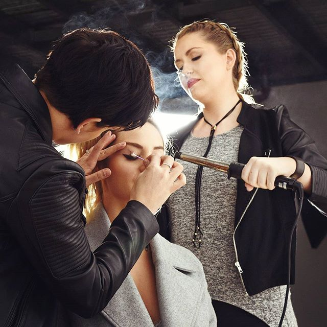 A masterful team creating the look for an exciting photo series. Make up by @tessm_makeupartist - Hair by @stefka.hair and the gorgeous @brookemcauley_ #bts #photostudio #portrait #photography #studio #lifestyle #style #studioflow #studiolife #onset #makeup #hair #fashion #beauty #melbourne