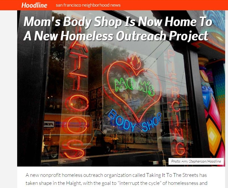 Hoodline: Body Shop Is New Home to A New Homeless Outreach Project