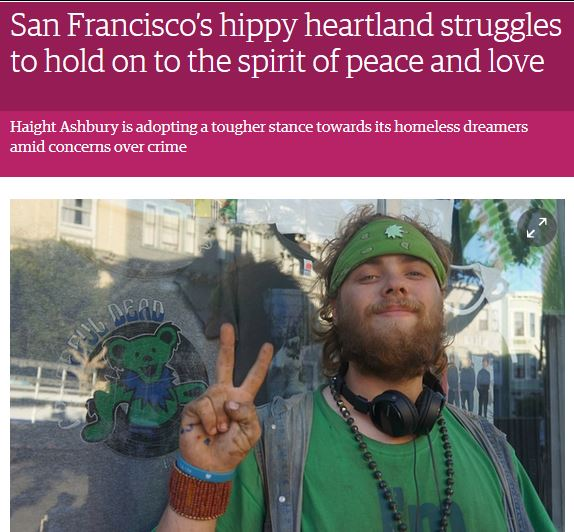San Francisco's hippy heartland struggles to hold on to the spirit of peace and love