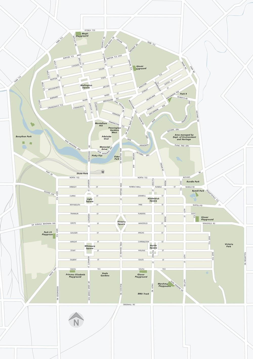 Adelaide City Council City of Adelaide Master Map