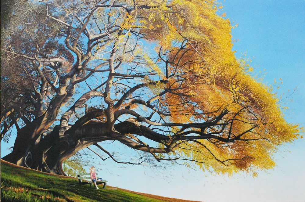 Afternoon Gaze  Wynne Finalist  210x150cm Oil on Canvas SOLD