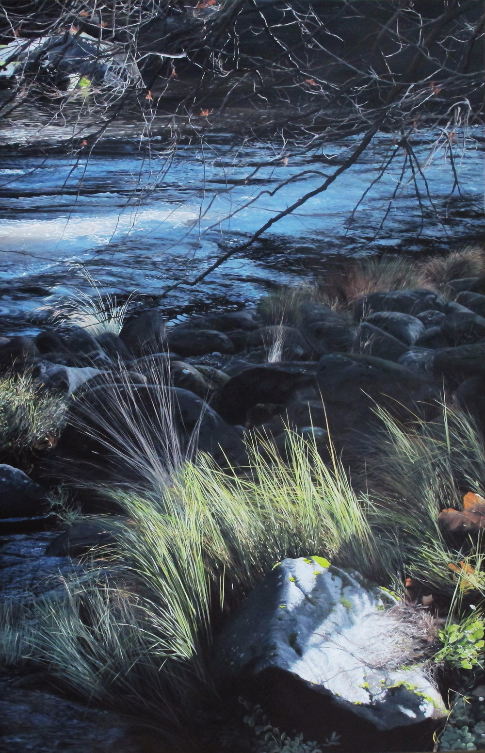Winter In Cataract Gorge  135x210cm Oil on Canvas SOLD