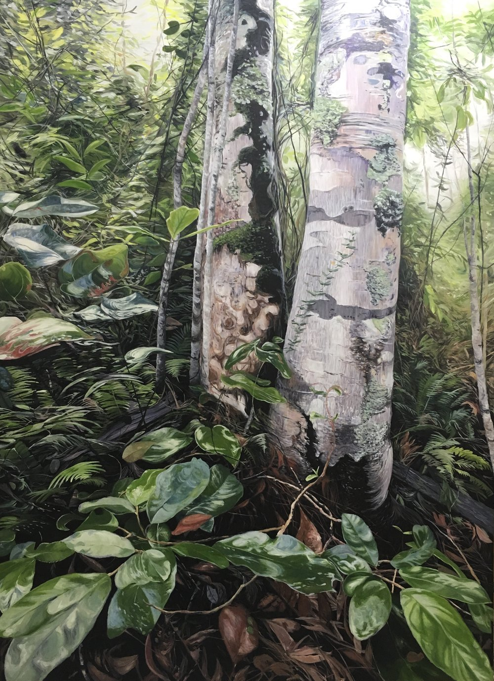 Forest Leaves After Rain  oil on canvas 163cm x 121cm $13,000  View Brisbane
