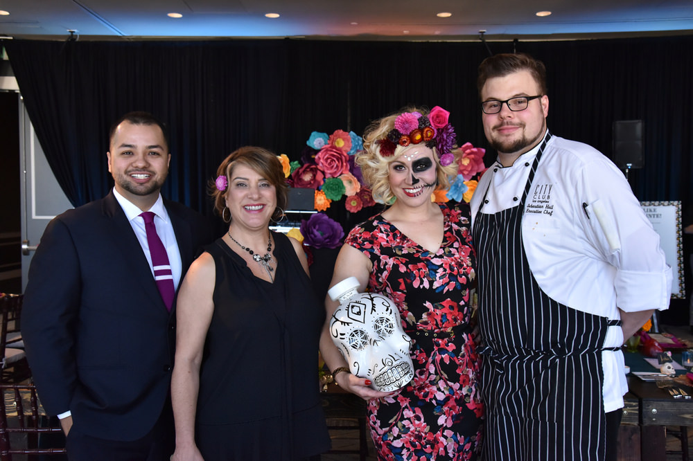 (L to R) Josh Baca, Jeannie Ward, Holly Gray and Chef Sebastian Heil