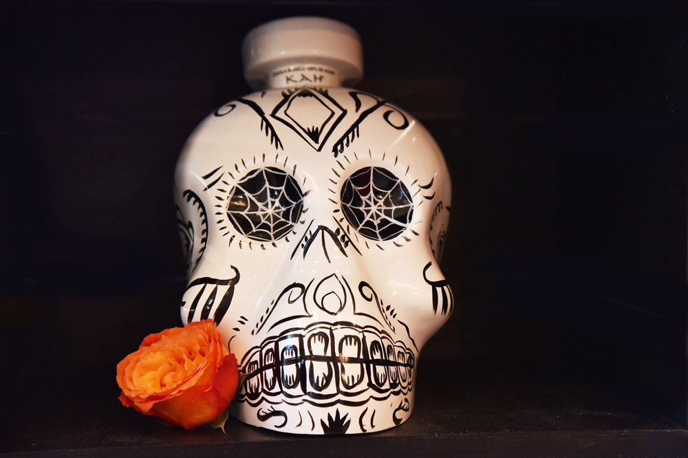 Kah Tequila not only generously donated their crafted tequila but also their hand painted, imported skull bottles for display.
