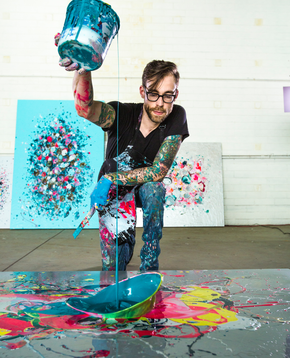 Action shot at 7000 sqft space for CHROMA show (photo credit: Katherine Kirchner Photography)