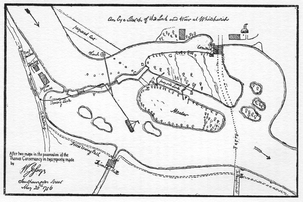 Map of the lock