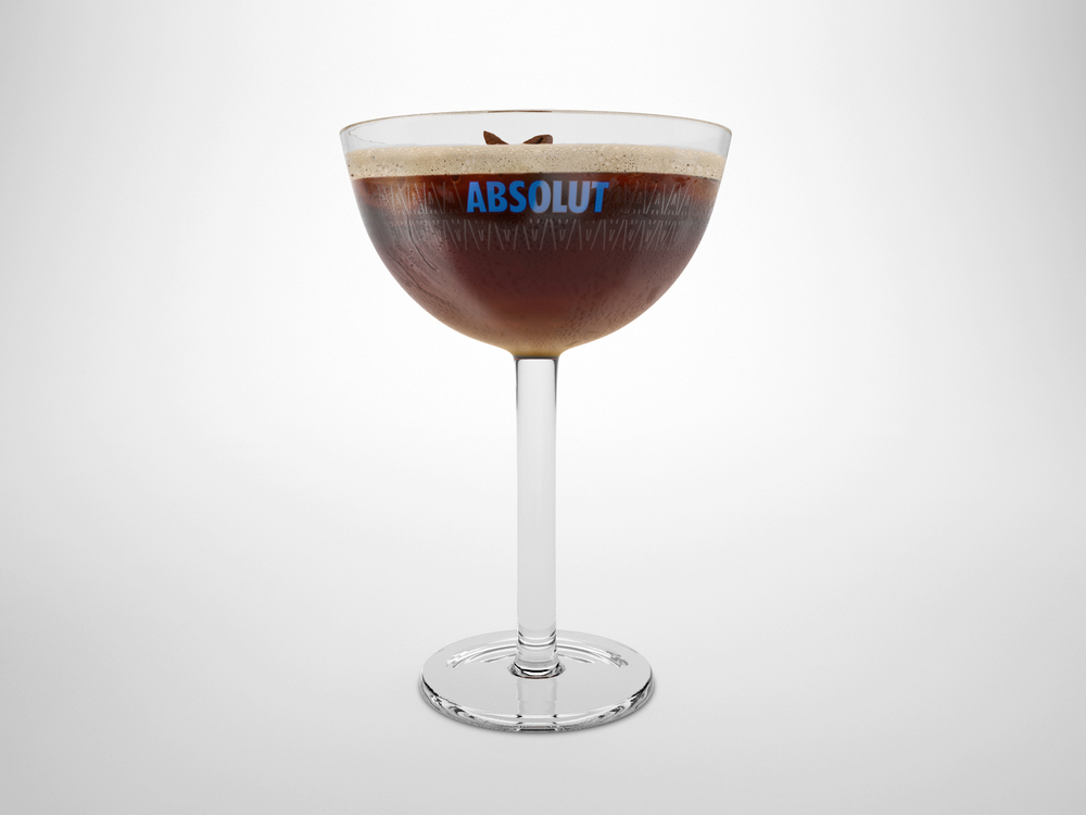 3D Render of Absolut Glass design