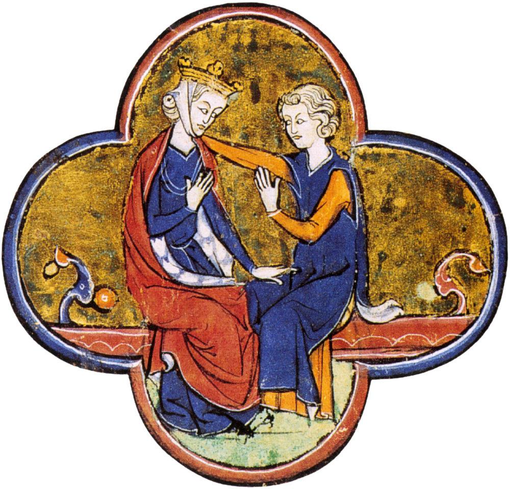 Blanche et son fils, Saint Louis