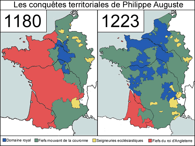 Les conquêtes de Philippe Auguste