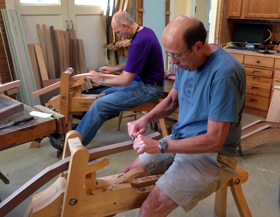 Side Chair Class, Day One: Shaping the relief cut with spoke shaves