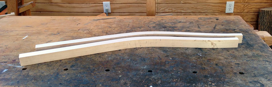 "These legs have been jointed flat, thickness planed to 1-5/8"", and trimmed to length."
