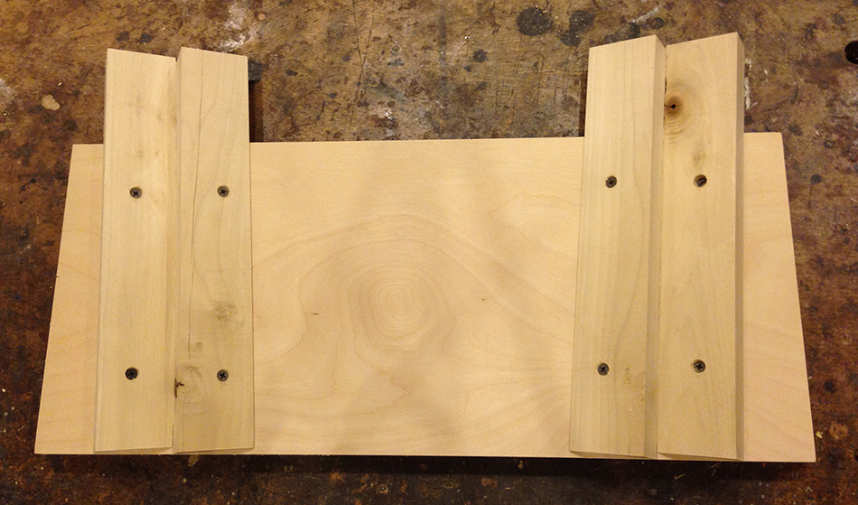 The completed holding jig