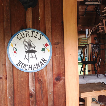 The entrance to Curtis Buchanan's shop in Jonesborough, Tennessee