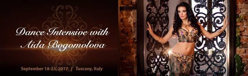 Participação no Curso Intensivo ministrado pela mundialmente conhecida bailarina e professora Aida Bogomolova em Itália    Participation in the Intensive Course of the World Famous Belly Dancer Aida Bogomolova in Italy