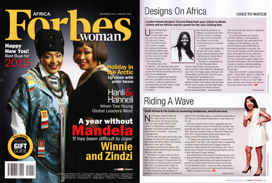 Forbes Woman, Ufuoma Ekpecham Interview, Dec-Jan 2014-2015 Issue.jpg