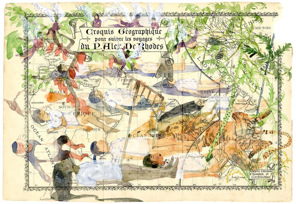 Voyage de Rhodes No.01  23.5 x 31cm