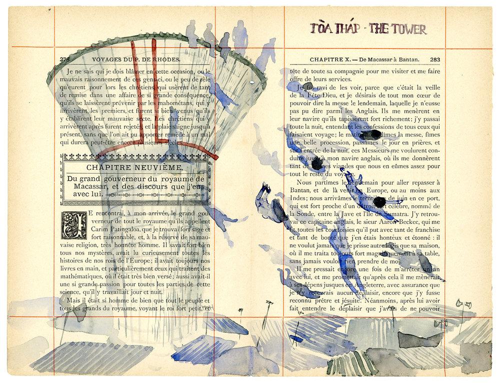 Voyage de Rhodes No.08  23.5 x 31cm