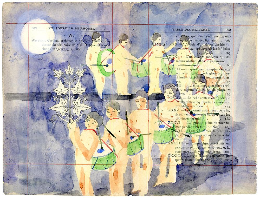 Voyage de Rhodes No.11  23.5 x 31cm