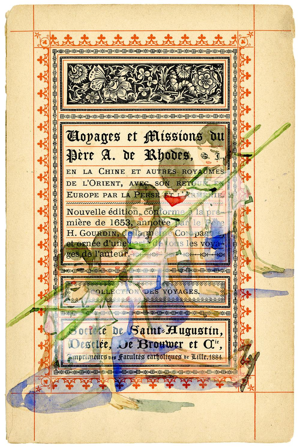 Voyage de Rhodes No.16  23.5 x 31cm