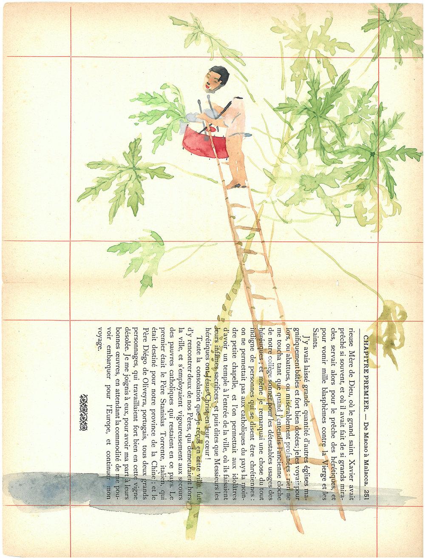 Voyage de Rhodes No.17  23.5 x 31cm