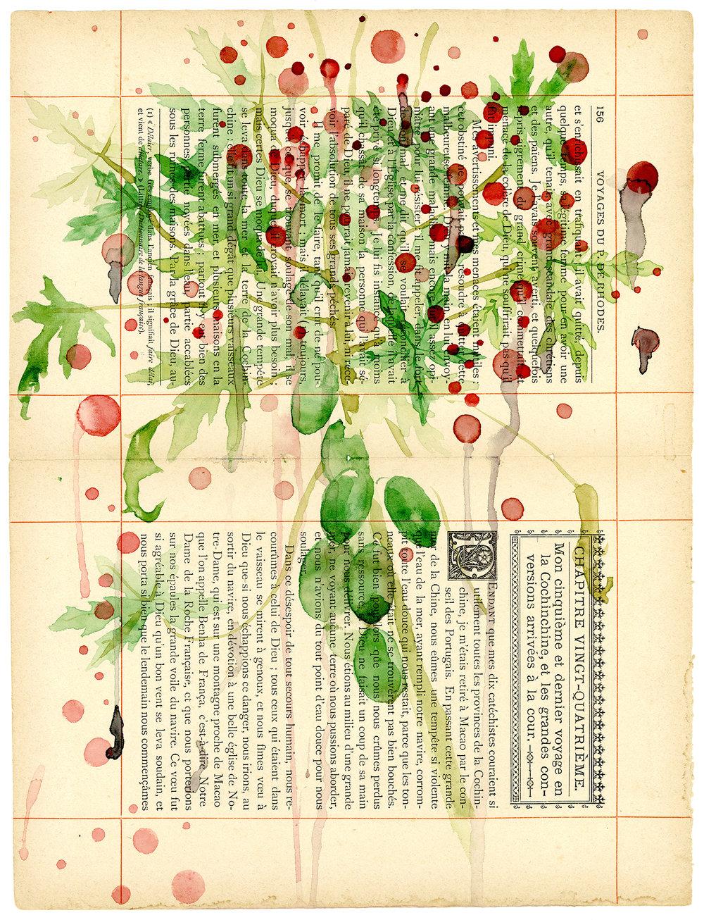 Voyage de Rhodes No.24  23.5 x 31cm