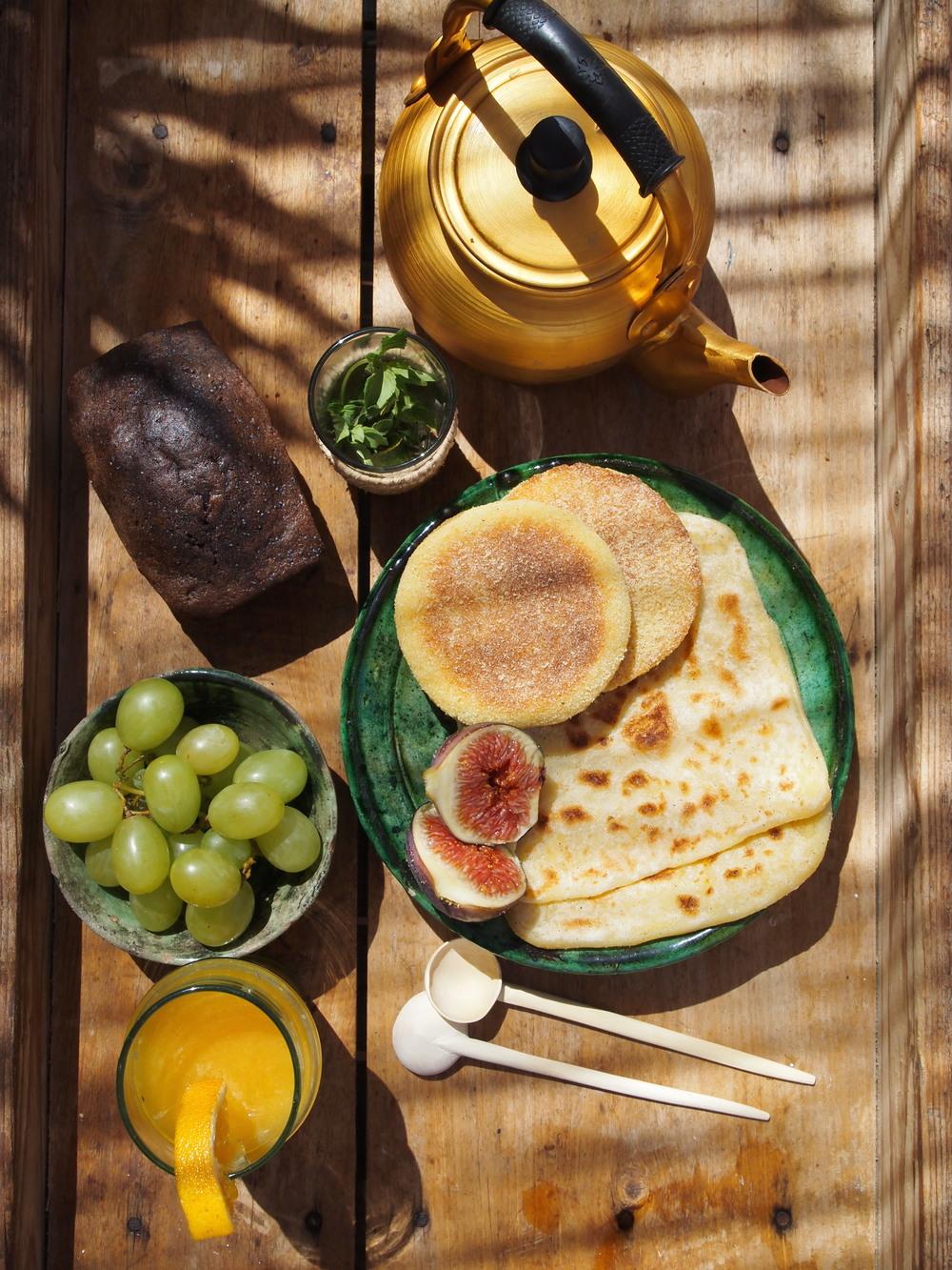 Copy of petit déjeuner - riad jardin secret marrakech maroc