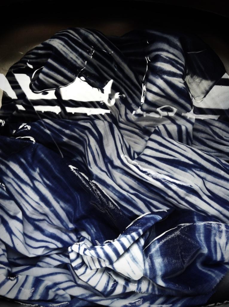 Arashi dyed fabric