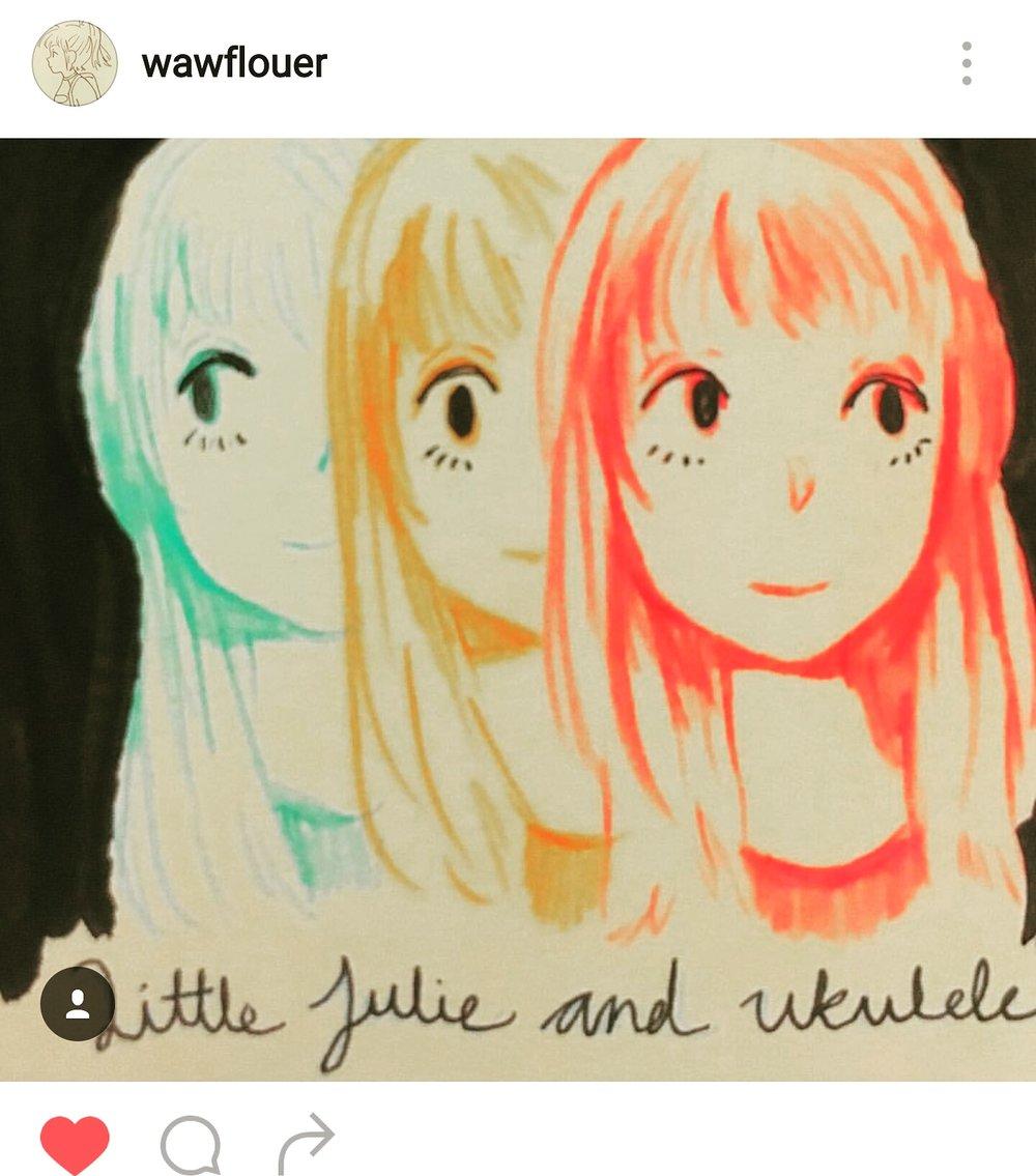Fan art sent to Julie from @wawflauer