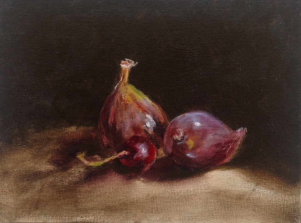 Figs and a cherry