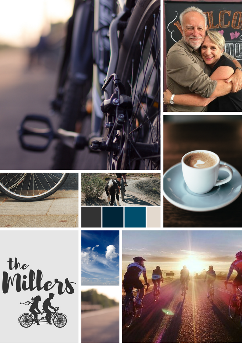 """""""The Millers"""" moodboard - bikes, bikes, bikes, coffee and the open road!"""