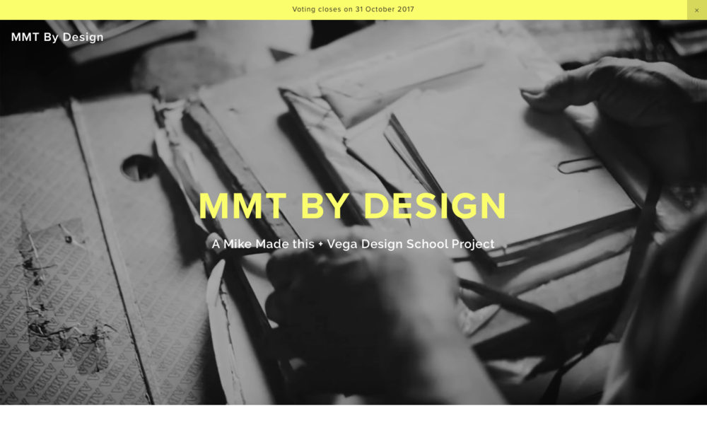 MMT by Design's site as it appears in a desktop view.