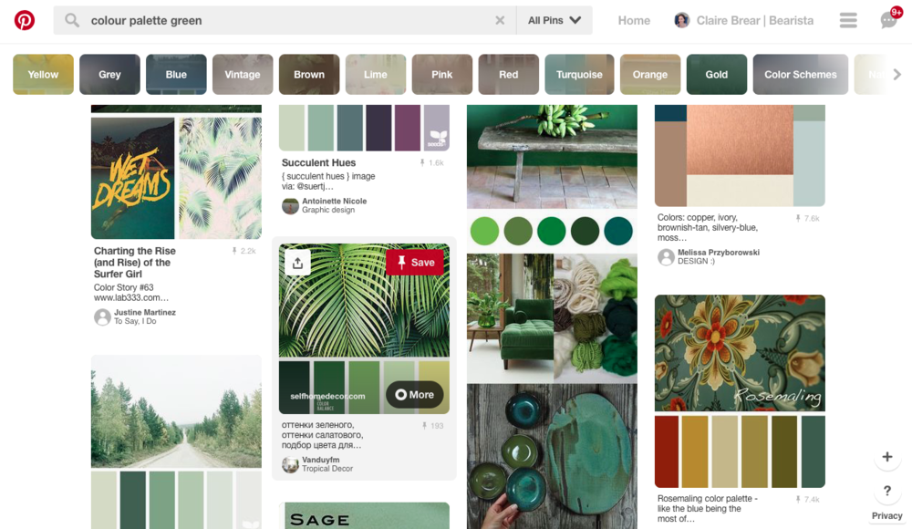 green colour palette