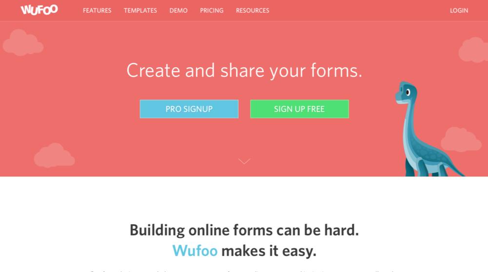 Wufoo homepage